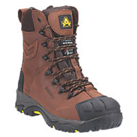 Amblers AS995 Metal Free  Safety Boots Brown Size 8