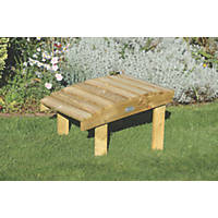 Forest Saratoga Mixed Softwood Footstool 550 x 600 x 370mm