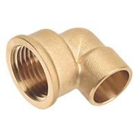 """Flomasta SFU_0663 Brass End Feed Adapting 90° Female Elbow 15mm x ½"""""""