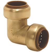 Tectite Classic  Brass Push-Fit Equal 90° Elbow 15mm