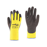Towa PowerGrab Thermo Thermal Grip Gloves Black / Yellow Large