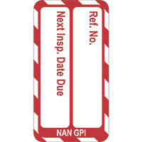"Scafftag  ""Next Inspection Due Date"" Nanotag Inserts 20 Pack"