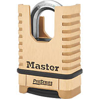 Master Lock 1177D  Brass Weatherproof Closed Shackle Combination  Padlock 58mm