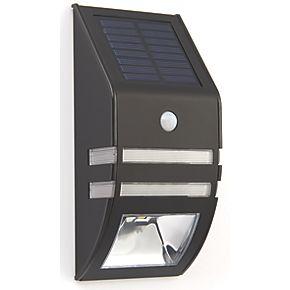 LAP 54023 Solar LED Bulkhead Matt Black 40lm | Solar ...