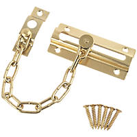 Smith & Locke Security Door Chain 86mm Polished Brass