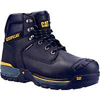 CAT Excavator   Safety Trainer Boots Black Size 7