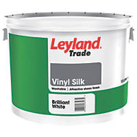 Leyland Trade Silk Vinyl Emulsion Brilliant White 10Ltr