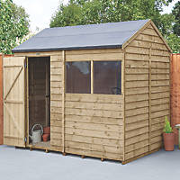 Forest  8' x 6' (Nominal) Reverse Apex Overlap Timber Shed with Base