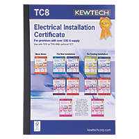 Kewtech TC8 New Electrical Installations Greater Than 100A Supply Certificates Pad