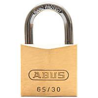 Abus Premium 65 Brass Padlock 30mm