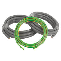 Prysmian 6181Y & 6491X Grey & Green/Yellow 1-Core 25mm² Meter Tails Cable 3m Coil
