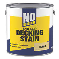 No Nonsense Anti-Slip Decking Stain Clear 2.5Ltr