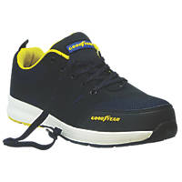 Goodyear GYSHU1560 Metal Free  Safety Trainers Black / Royal Blue Size 7