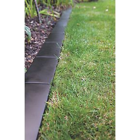 Apollo Lawn Edging Tiles Black Powder Coated 240mm 6 Pack Fix