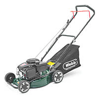 Webb WER40HPSFX 41cm 123cc Hand-Propelled Rotary Petrol Lawn Mower