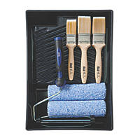 Harris Trade Medium Pile Micropoly Roller & Brush Set 7 Pieces