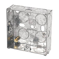 LAP  1-Gang Galvanised Steel Installation Boxes 25mm 10 Pack
