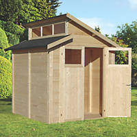 "Rowlinson  6' 6"" x 6' 6"" (Nominal) Skylight Tongue & Groove Timber Shed"
