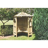 Shire Honeysuckle Corner Arbour Green Wash 1248 x 1248 x 2490mm