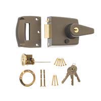 ERA 184-31 Double Locking Night Latch  Grey 40mm Backset