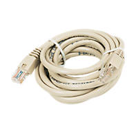 Beige Unshielded RJ45 Cat 5e Ethernet Cable 3m