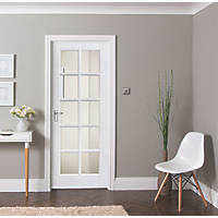 Jeld-Wen  10-Clear Light Primed White Wooden 10-Panel Internal Door 1981 x 838mm