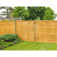 Forest  Lap  Fence Panels 6 x 5' Pack of 9