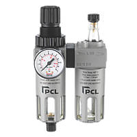 "PCL ATCFRL6 ¼"" BSP Air Tool Filter Regulator & Lubricator"