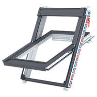 Keylite  P01 Manual Centre-Pivot Polar White uPVC Roof Window Clear 550 x 780mm