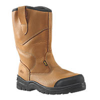 Site Gravel   Safety Rigger Boots Tan Size 9