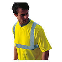 "Dickies  Hi-Vis Safety T-Shirt Saturn Yellow X Large 50"" Chest"