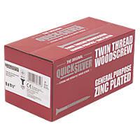 "Quicksilver PZ Double-Countersunk Woodscrews 8 x 1½"" 1000 Pack"