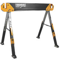 Admirable Stanley Fold Up Saw Horse Pair Sawhorses Screwfix Com Machost Co Dining Chair Design Ideas Machostcouk