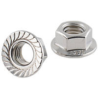 Easyfix A2 Stainless Steel Flange Head Nuts M10 100 Pack
