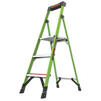 Little Giant  Fibreglass & Aluminium 3-Treads MightyLite Platform Stepladder 0.84m
