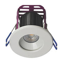 Robus Ramada Fixed  Fire Rated LED Downlight White / Brushed Chrome 670lm 8.5W 220-240V