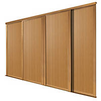 Spacepro Shaker 4 Door Panel Sliding Wardrobe Doors Oak 2898 x 2260mm