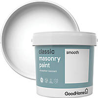 GoodHome Smooth Masonry Paint Pure Brilliant White 5Ltr