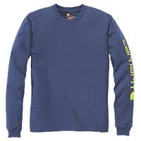 """Carhartt Graphic Long-Sleeve T-Shirt Blue Medium 44"""" Chest"""