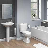 Fallon Contemporary Single Ended Bathroom Suite With Vitreous China Bath