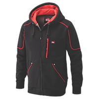 "Lee Cooper 105 Hooded Fleece Jacket Black/Red Medium 40"" Chest"