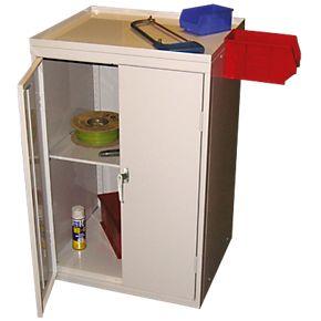 tool storage cabinet 600 x 500 x 930mm grey garage. Black Bedroom Furniture Sets. Home Design Ideas