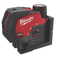 Milwaukee M12CLLP-301C 12V 3.0Ah Li-Ion RedLithium Green Self-Levelling Cross-Line Laser Level