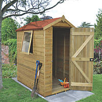 Forest 4' x 6' (Nominal) Apex Tongue & Groove Timber Shed with Assembly