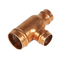 Yorkshire  Copper Solder Ring Reducing Tee 22 x 15 x 15mm