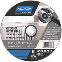 "Norton   Cutting Disc 9"" (230mm) x 1.9 x 22.23mm 3 Pack"