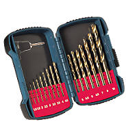 Makita Straight Shank HSS Titanium-Plated Drill Bit Set 16 Pack