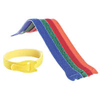 Velcro Brand One-Wrap Assorted Colours Reusable Ties 200mm x 12mm 5 Pack