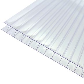 Axiome Twinwall Polycarbonate Sheet Clear 690 x 10 x 2500mm (941FH)