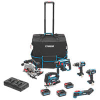 Erbauer E18-6KA 18V 4.0Ah Li-Ion EXT Cordless Power Tool Kit